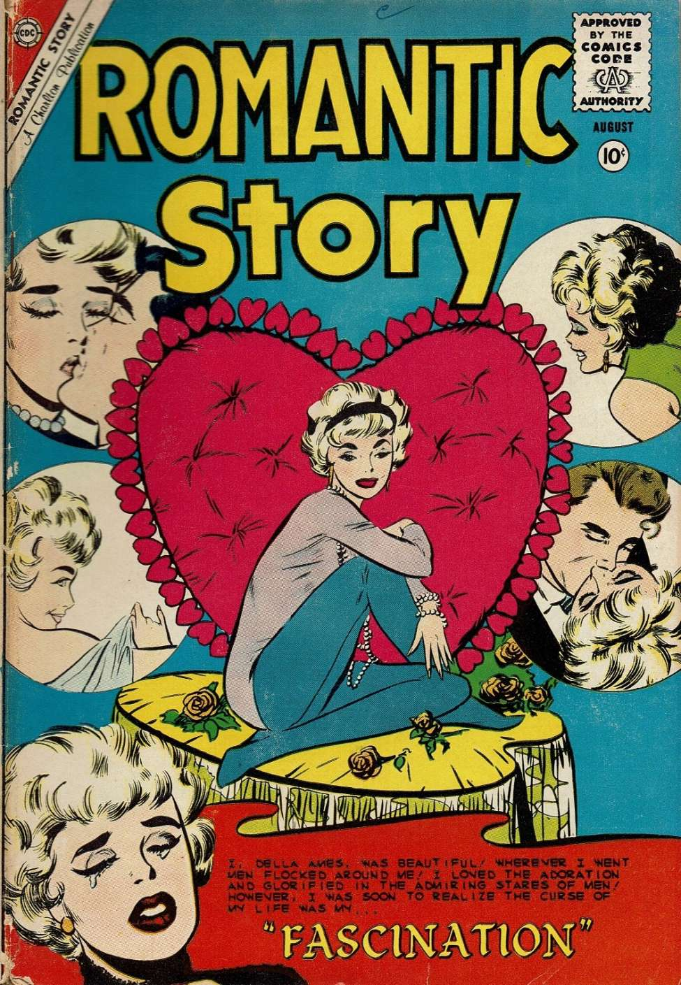 Comic Book Cover For Romantic Story #50