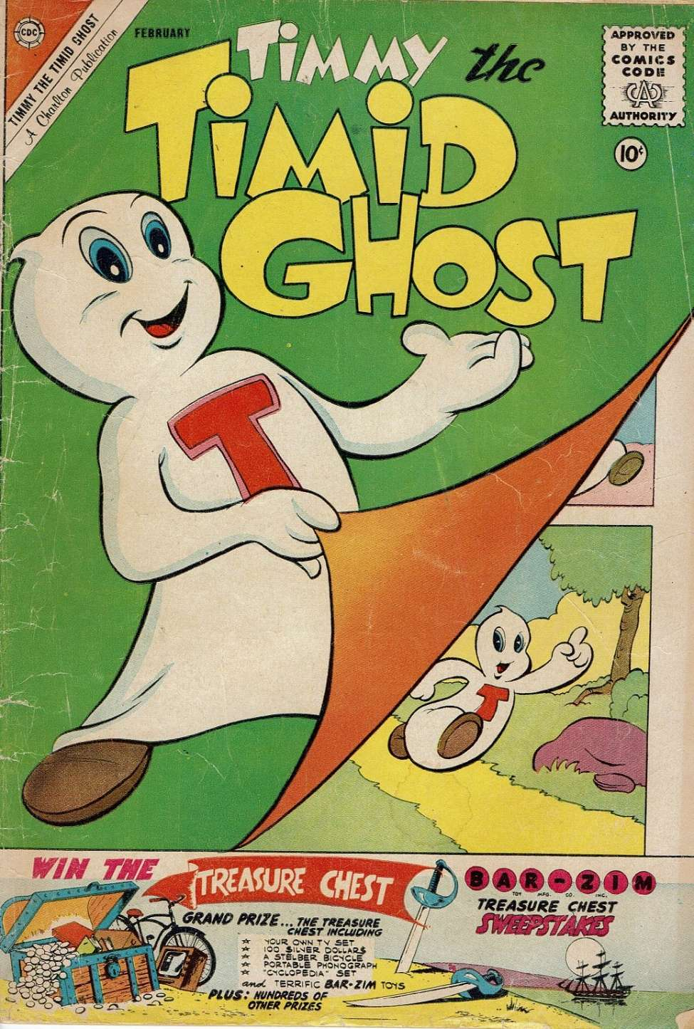Comic Book Cover For Timmy the Timid Ghost #25