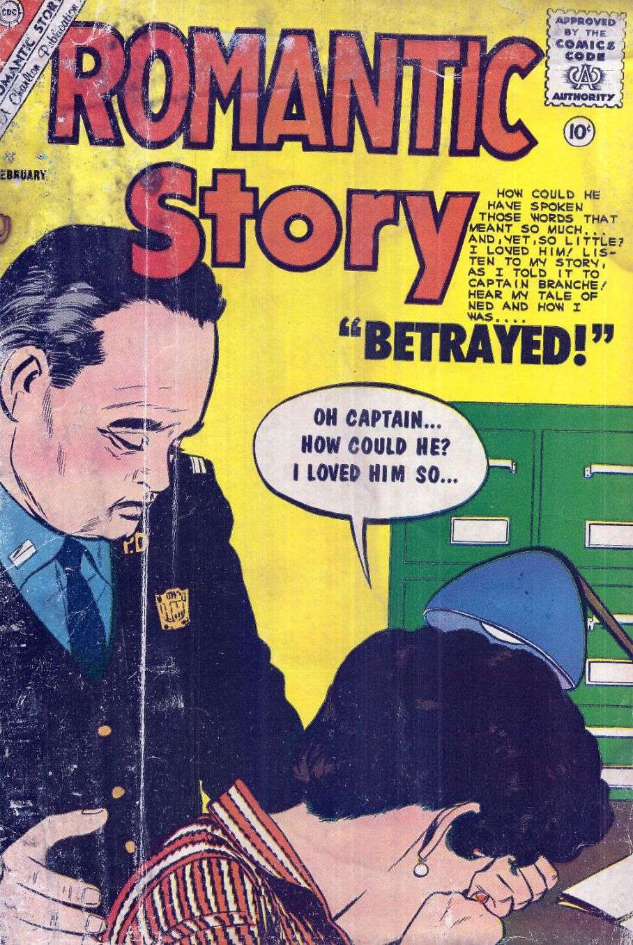 Comic Book Cover For Romantic Story #53