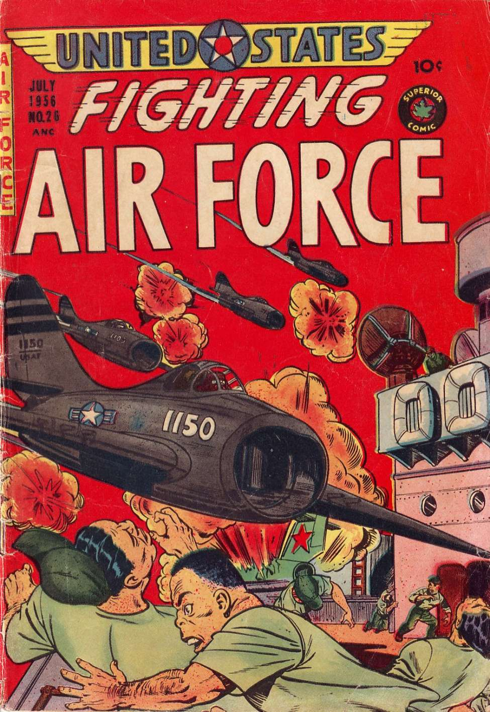 Comic Book Cover For U.S. Fighting Air Force #26