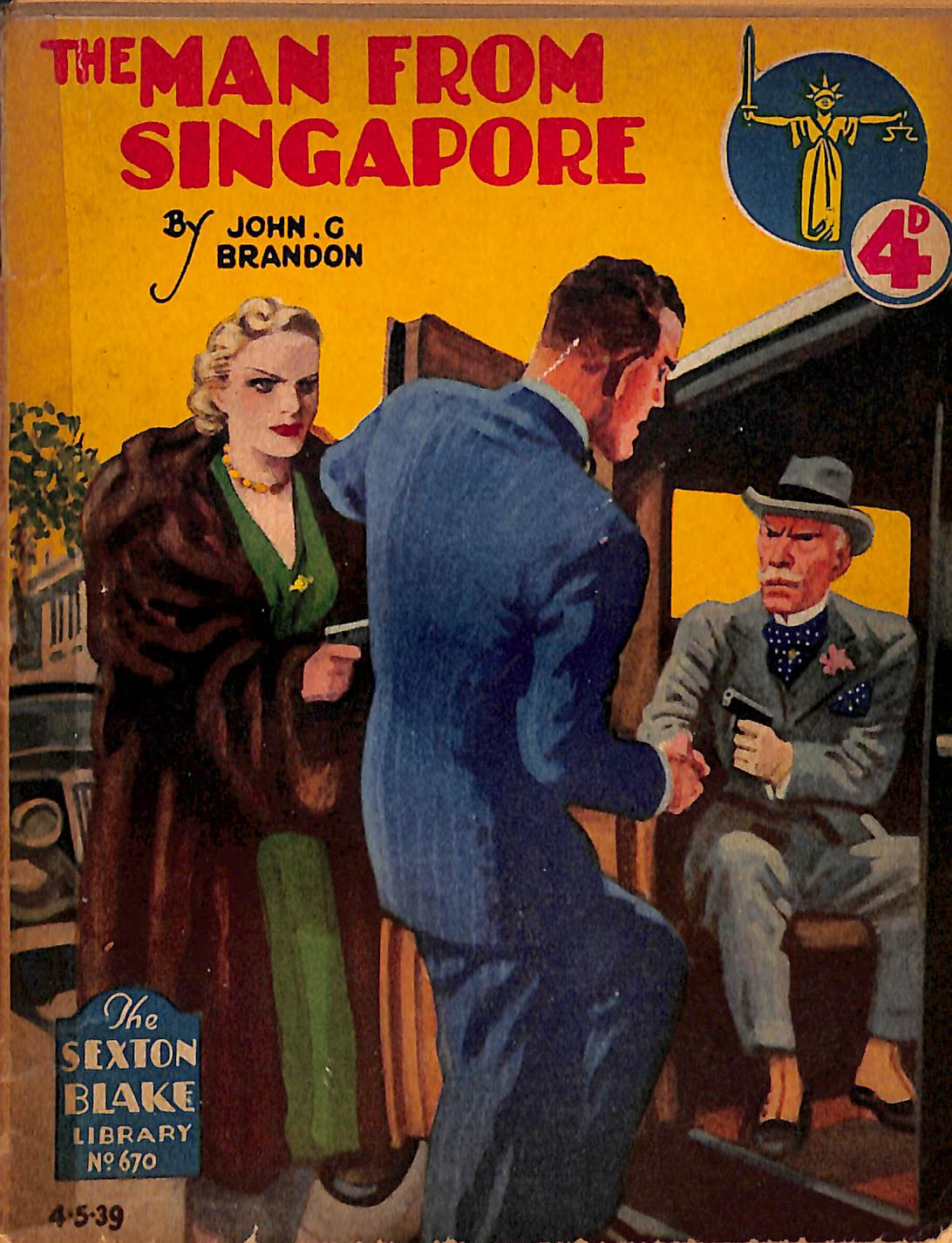 Comic Book Cover For Sexton Blake Library S2 670 - The Man from Singapore