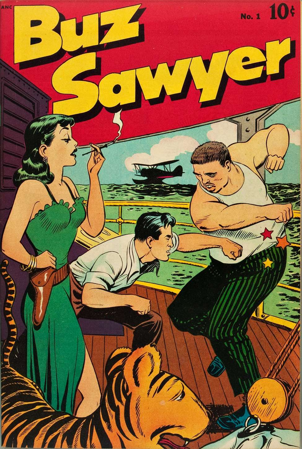 Comic Book Cover For Buz Sawyer #1