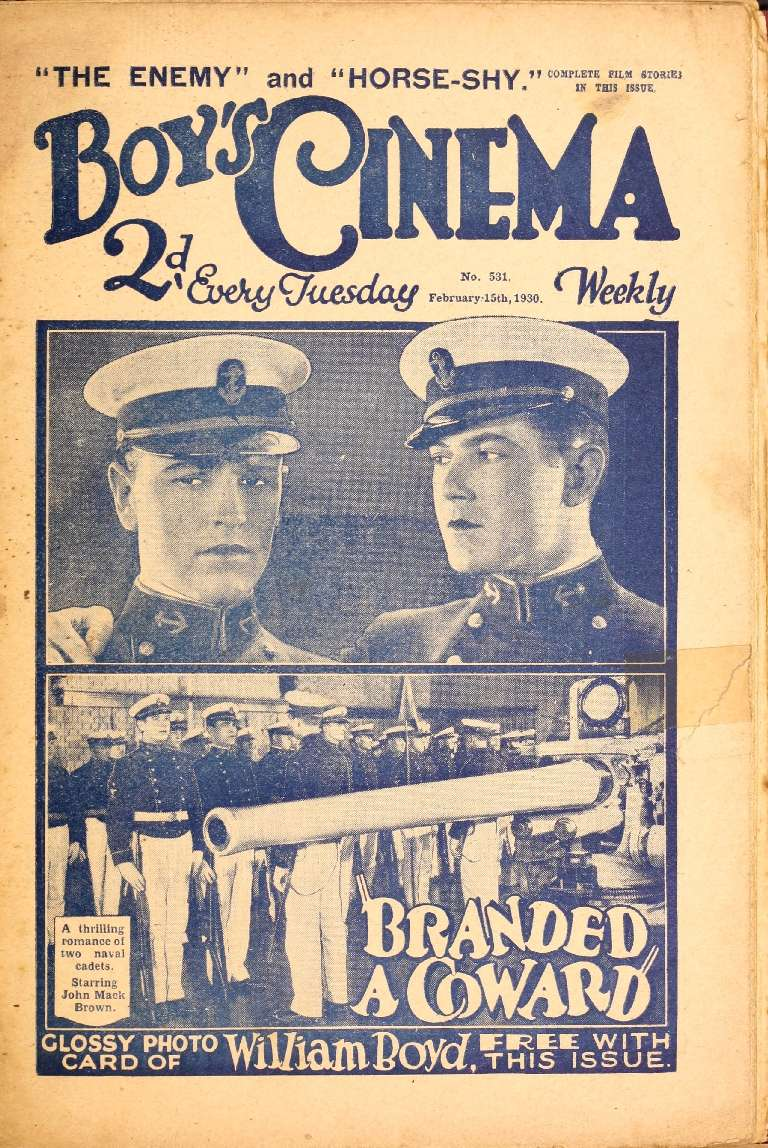 Comic Book Cover For Boy's Cinema 0531 - Branded A Coward starring John Mack Brown