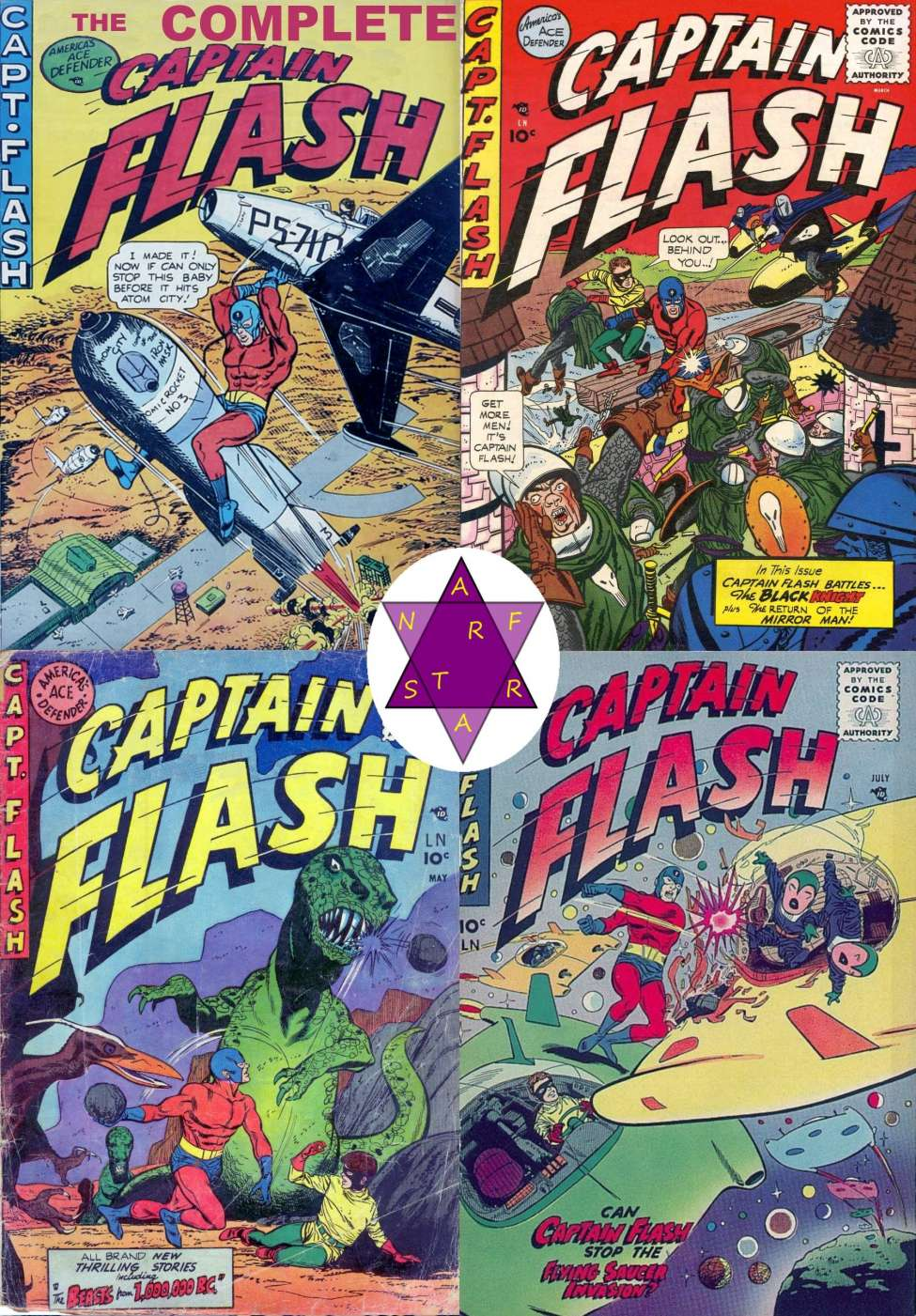 Comic Book Cover For Captain Flash Complete