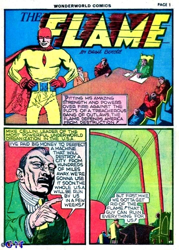 Comic Book Cover For The Flame Wonderworld Comics Part 2 (of 3)