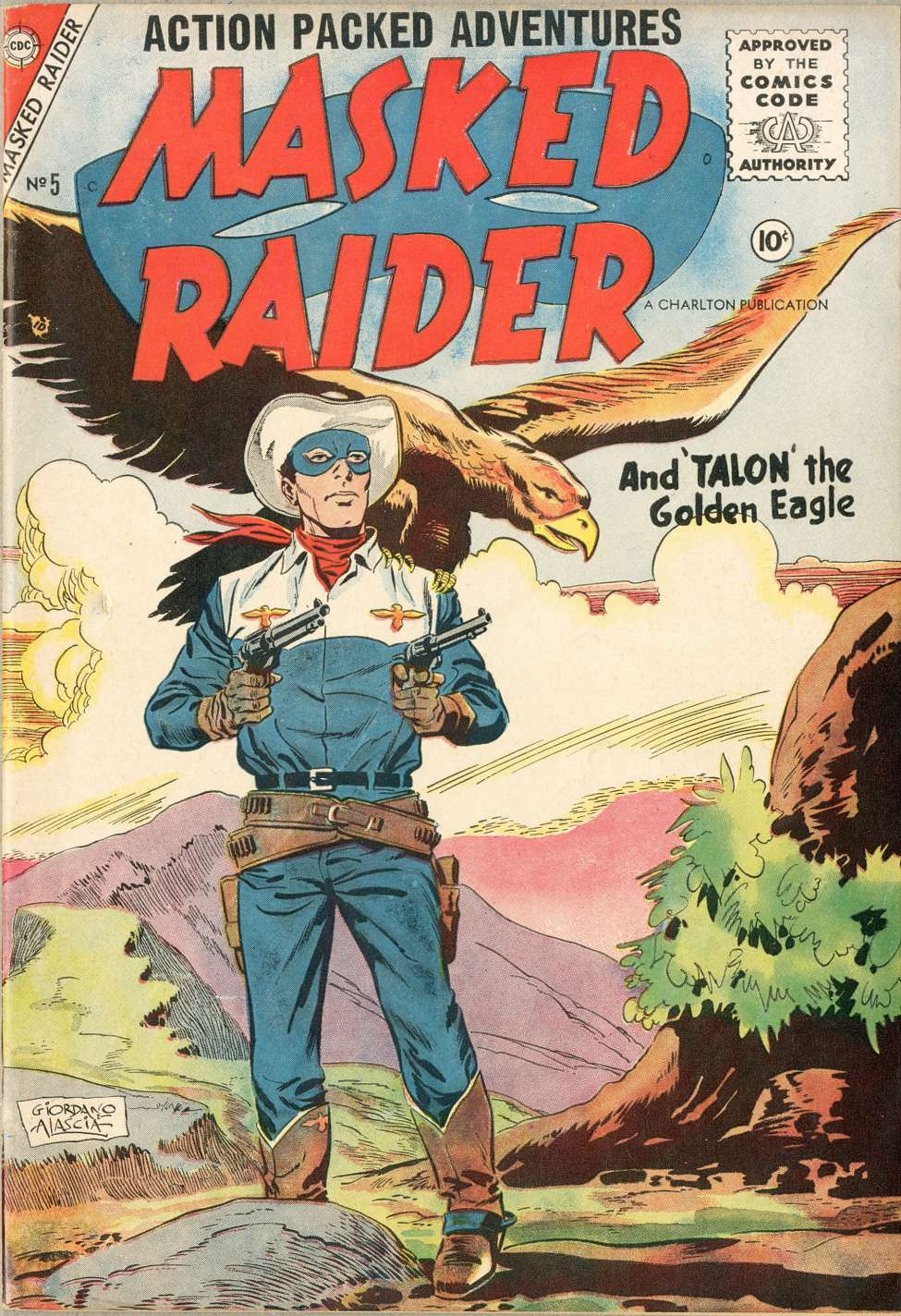 Comic Book Cover For Masked Raider #5