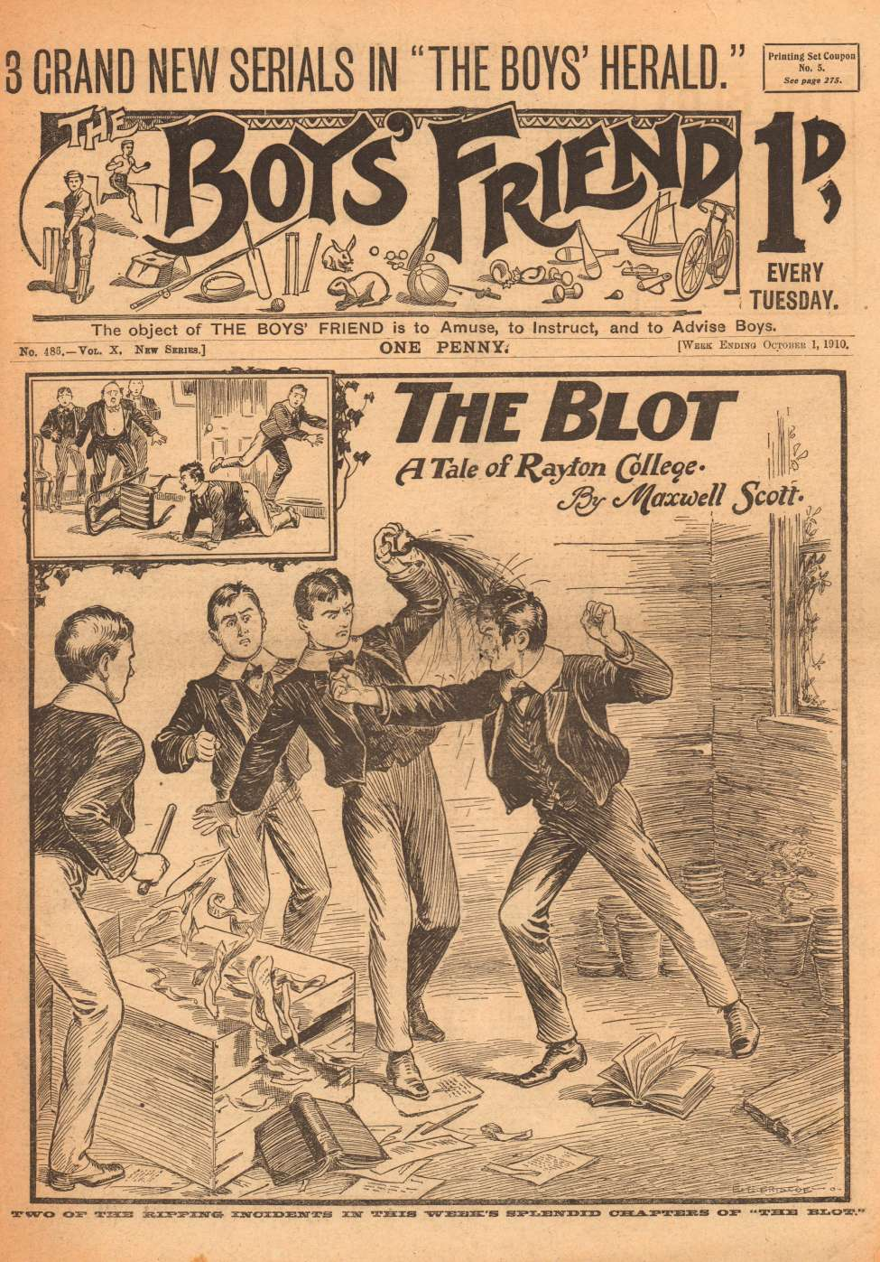 Comic Book Cover For The Boys' Friend 0486 - The Blot