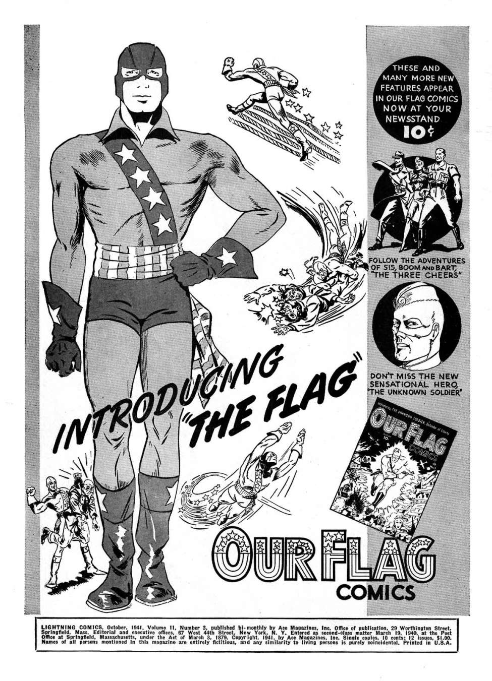 Comic Book Cover For Flag Archives Vol 1 (Ace Comics)
