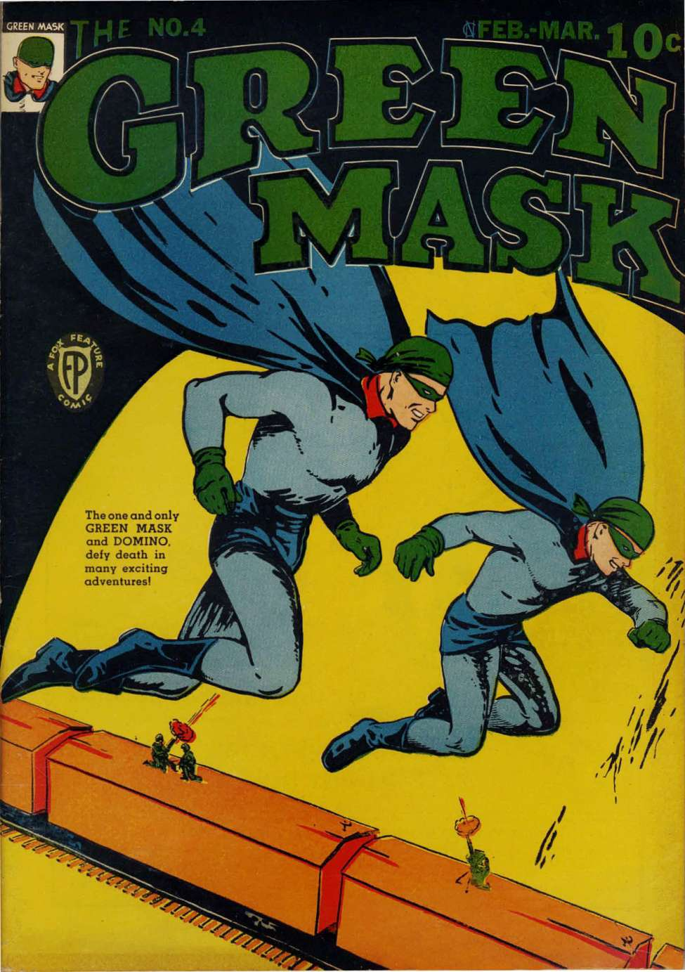 Comic Book Cover For The Green Mask #4