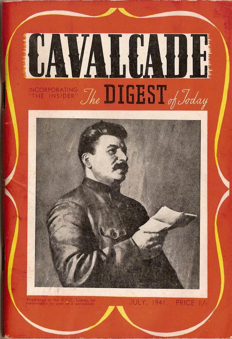 Comic Book Cover For Cavalcade 1941-07