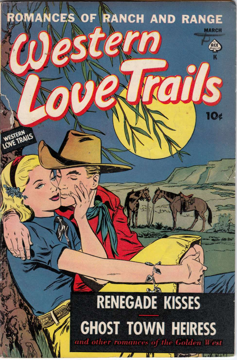 Comic Book Cover For Western Love Trails #9