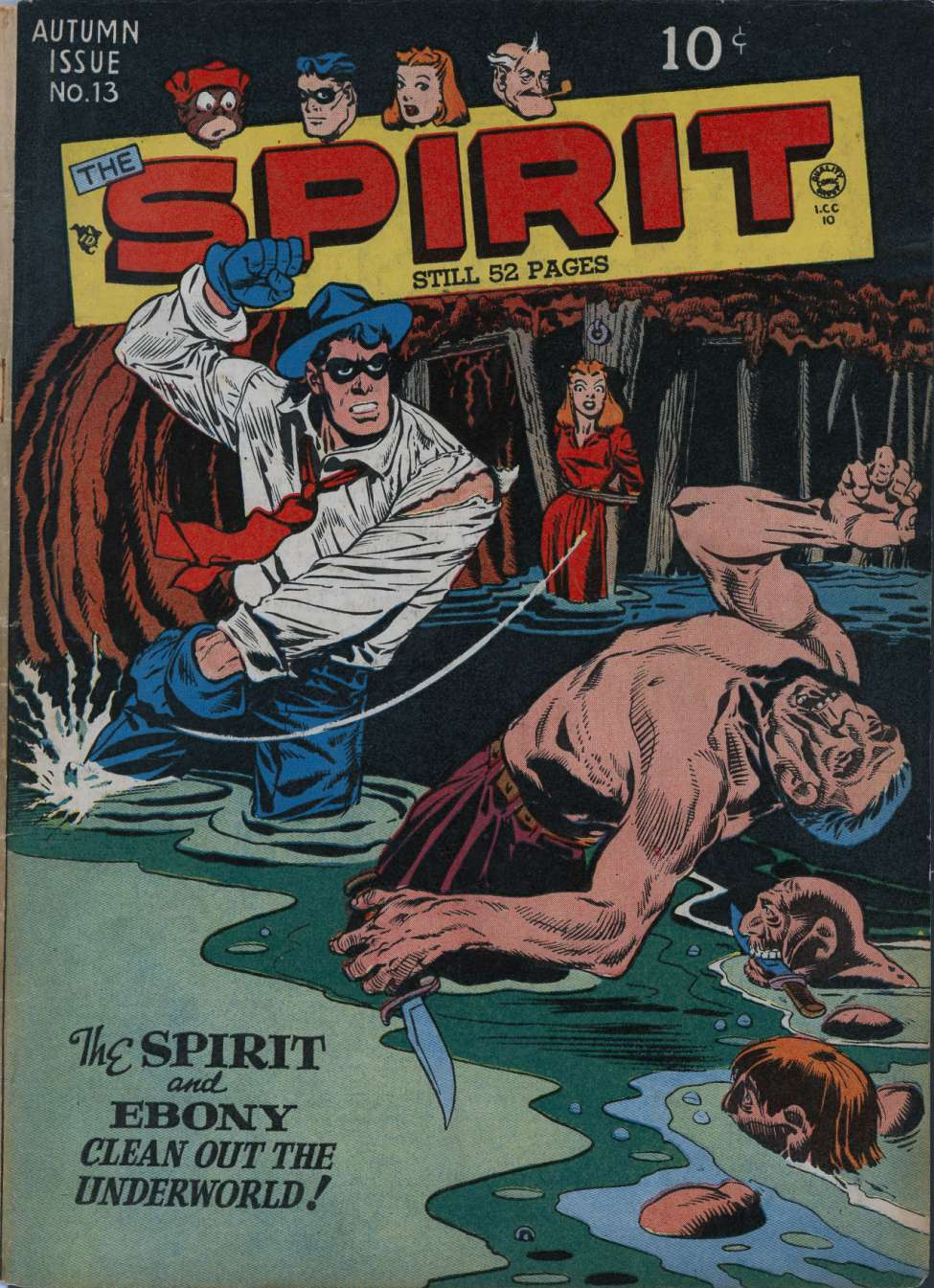 Comic Book Cover For The Spirit #13