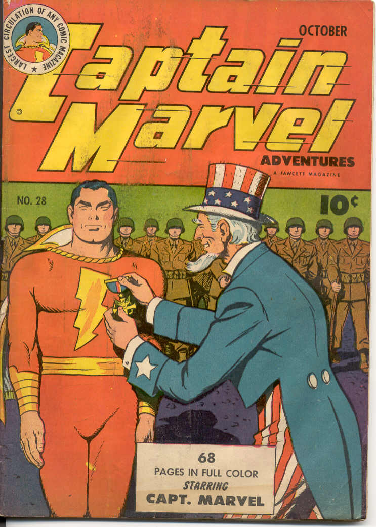Comic Book Cover For Captain Marvel Adventures #28