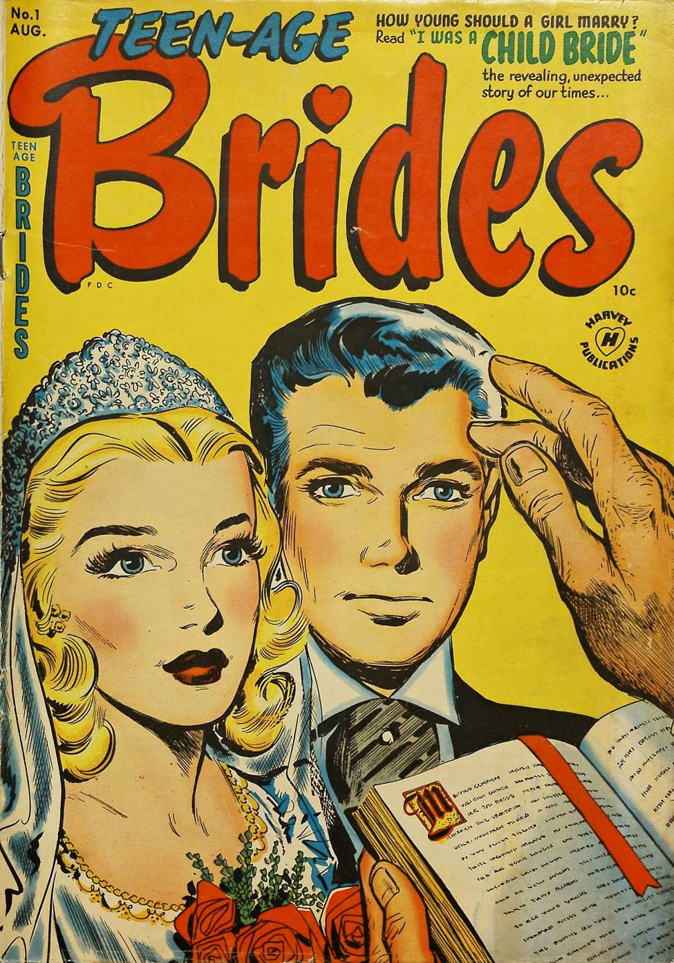 Comic Book Cover For Teen-Age Brides #1