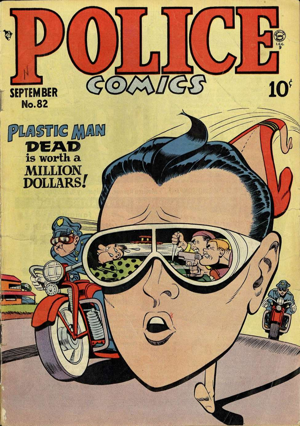 Comic Book Cover For Police Comics #82