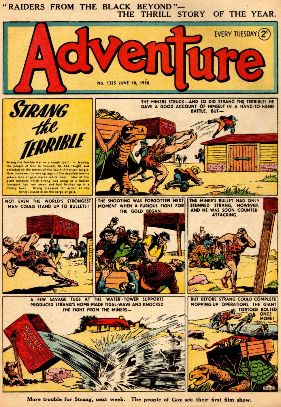 Comic Book Cover For Adventure #1325