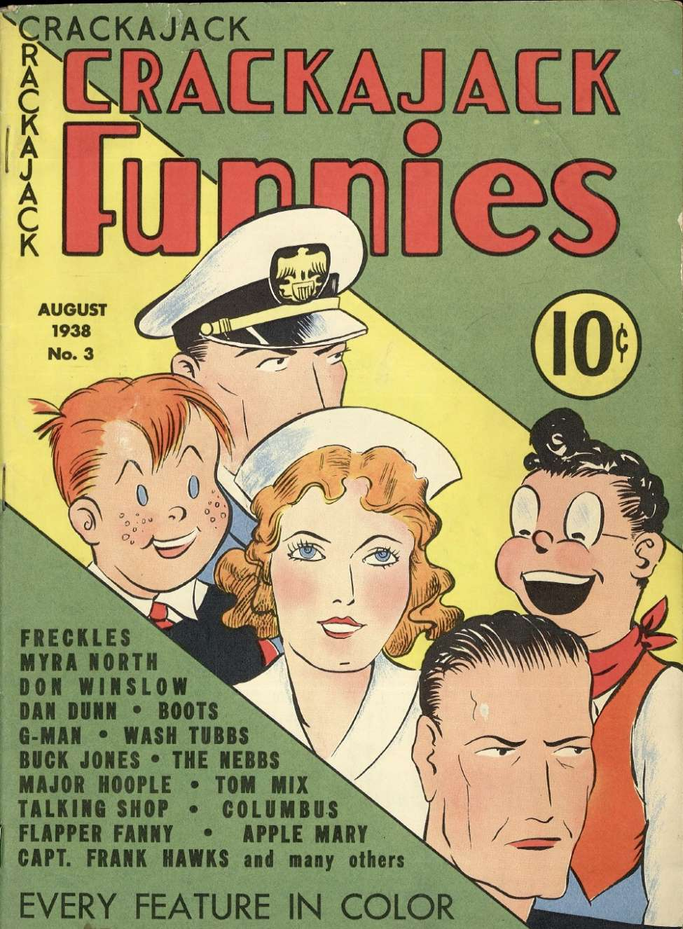Comic Book Cover For Crackajack Funnies #3