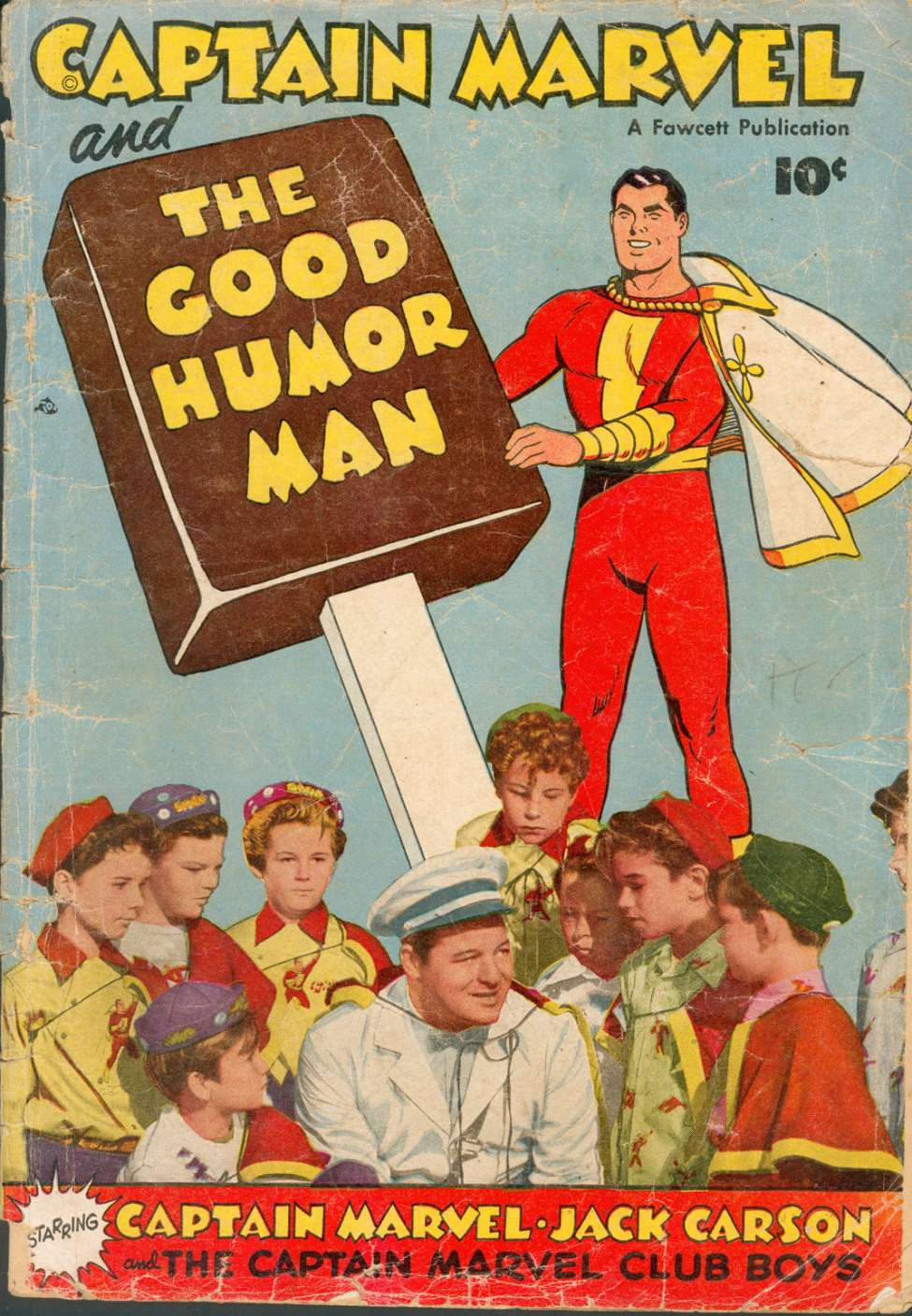 Comic Book Cover For Captain Marvel and the Good Humor Man [nn]
