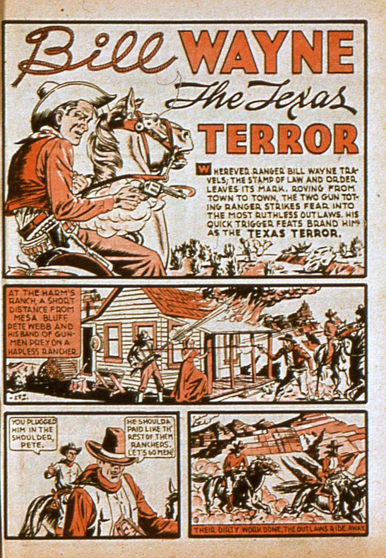 Comic Book Cover For Bill Wayne, The Texas Terror (Lev Gleason)