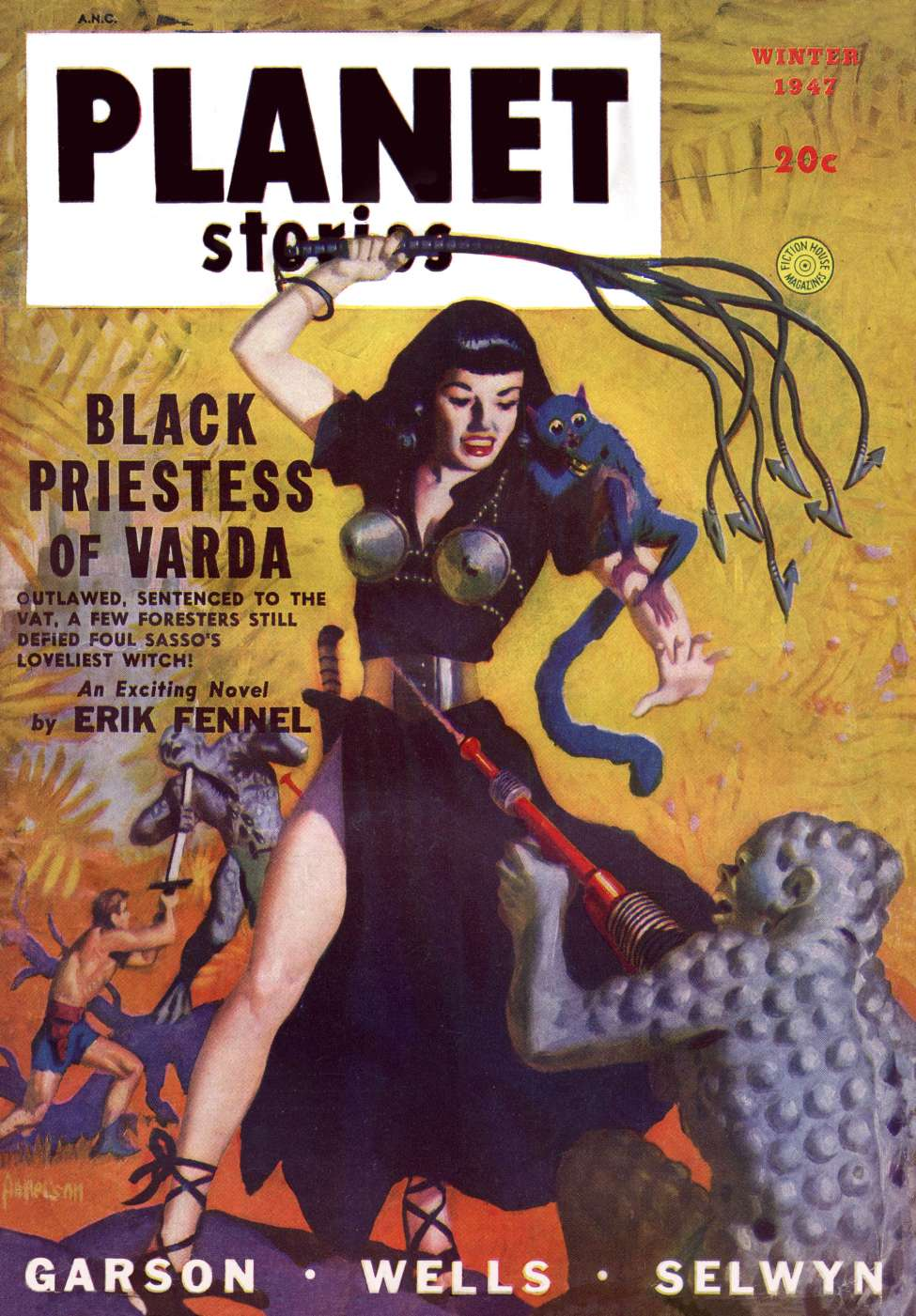 Comic Book Cover For Planet Stories v03 09 - Black Priestess of Varda - Erik Fennel
