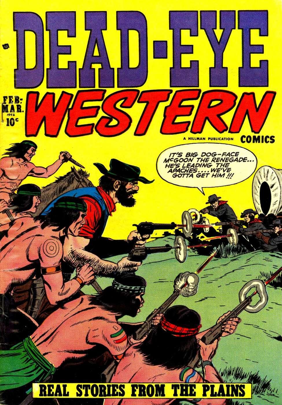 Comic Book Cover For Dead-Eye Western Comics v2 #8
