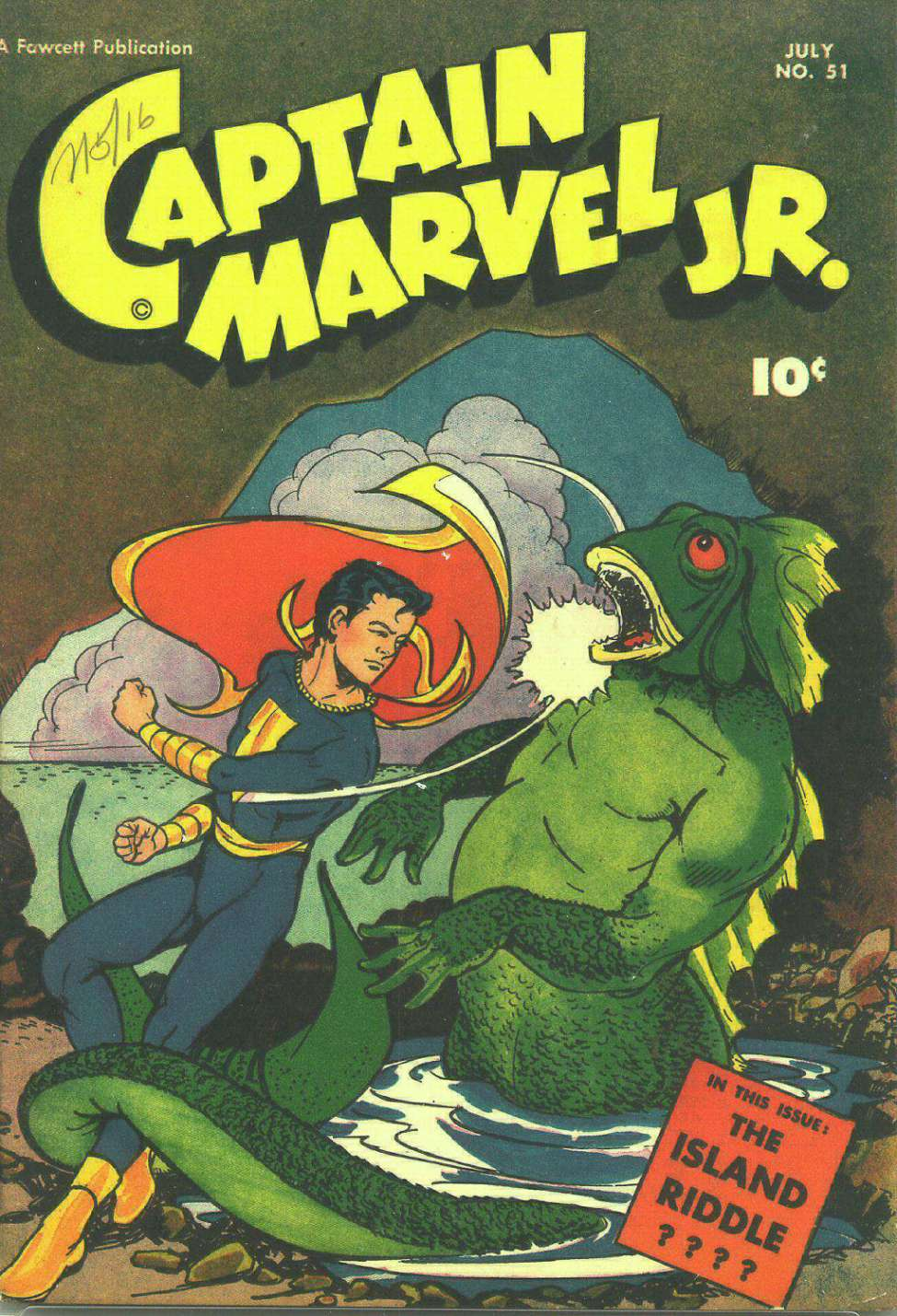 Comic Book Cover For Captain Marvel Jr. #51
