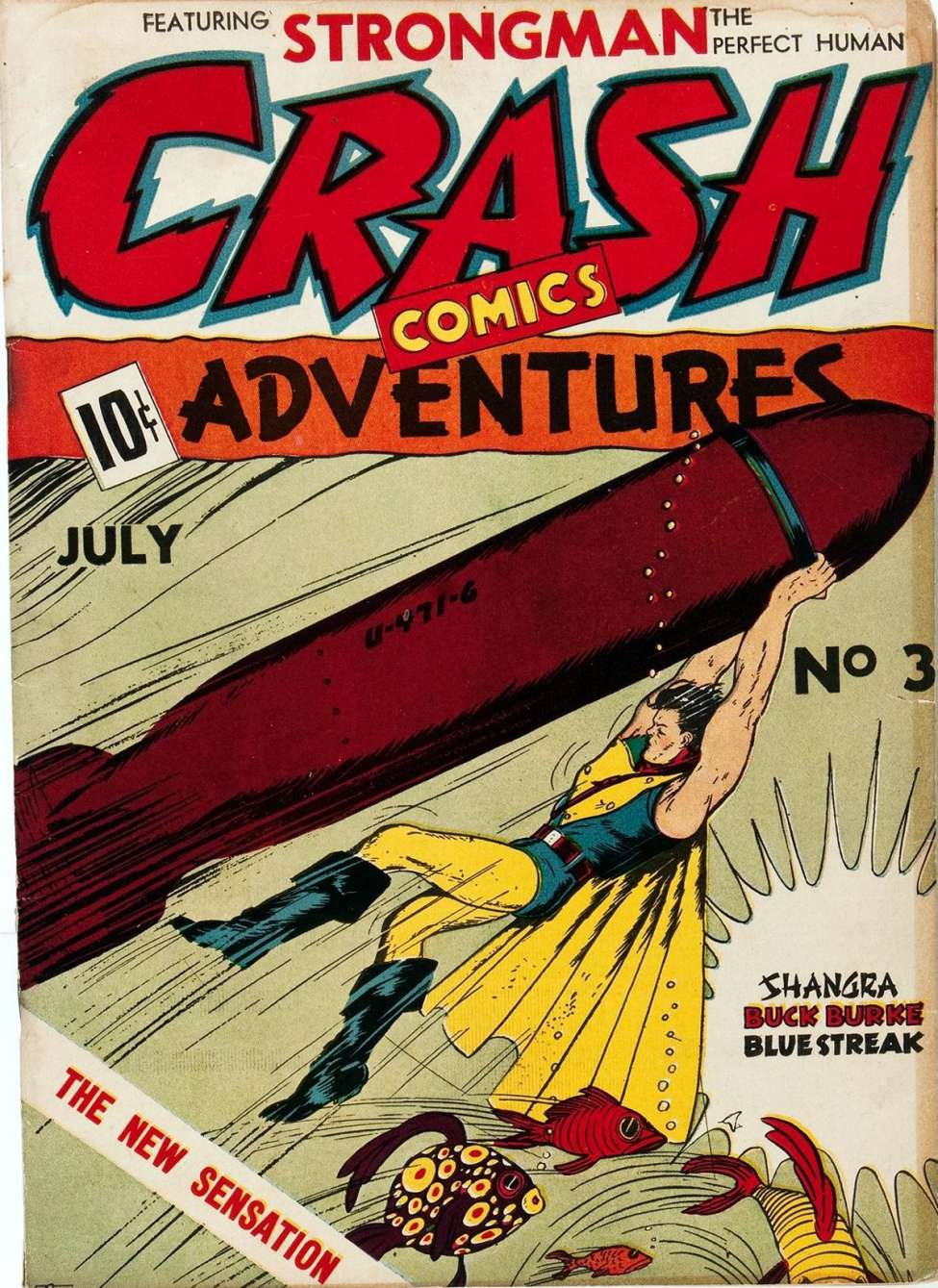 Comic Book Cover For Crash Comics Adventures #3 - Version 1