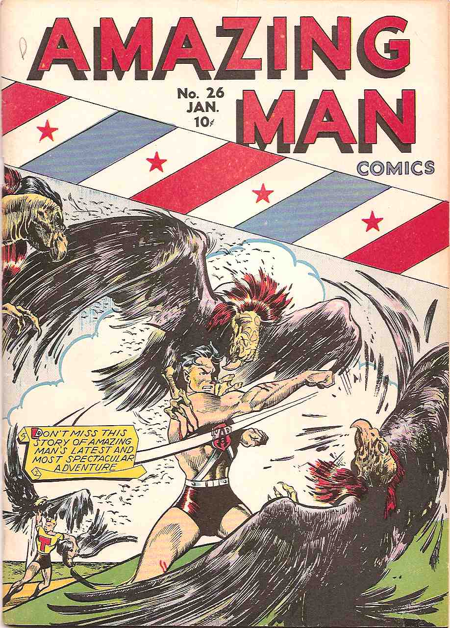 Comic Book Cover For Amazing Man Comics #26