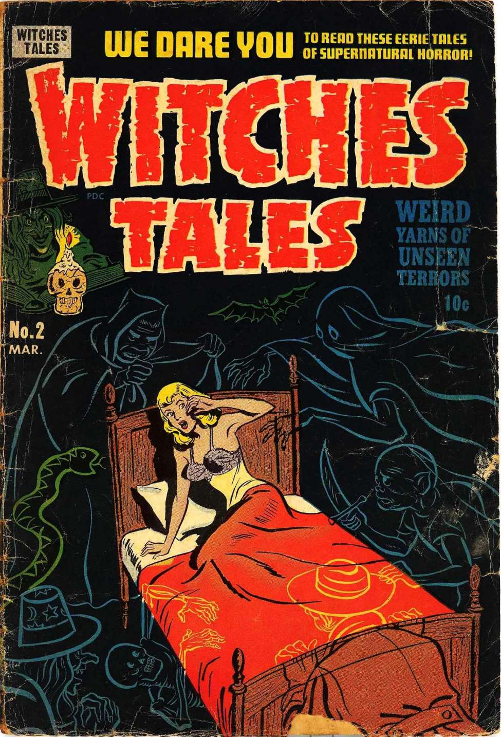 Comic Book Cover For Witches Tales #2