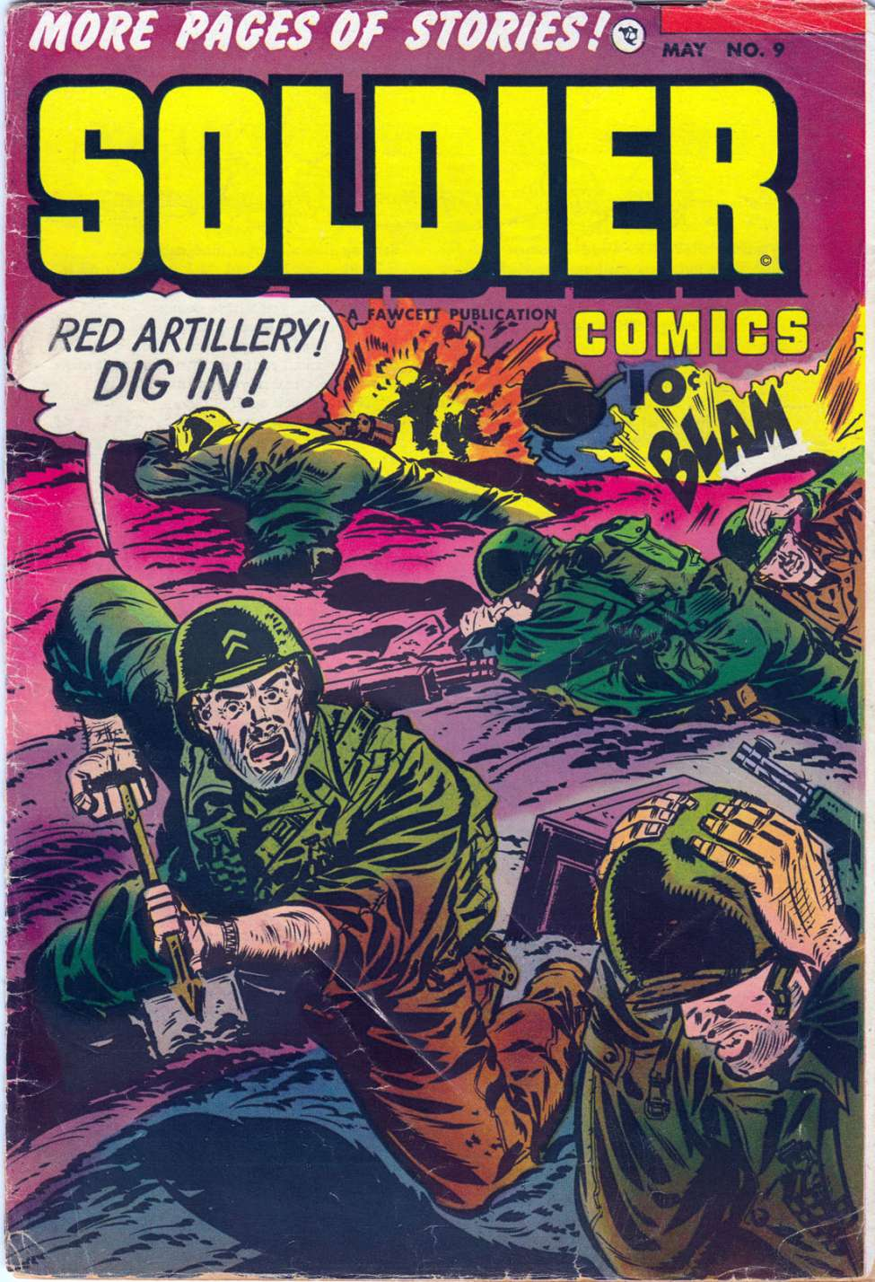 Comic Book Cover For Soldier Comics #9