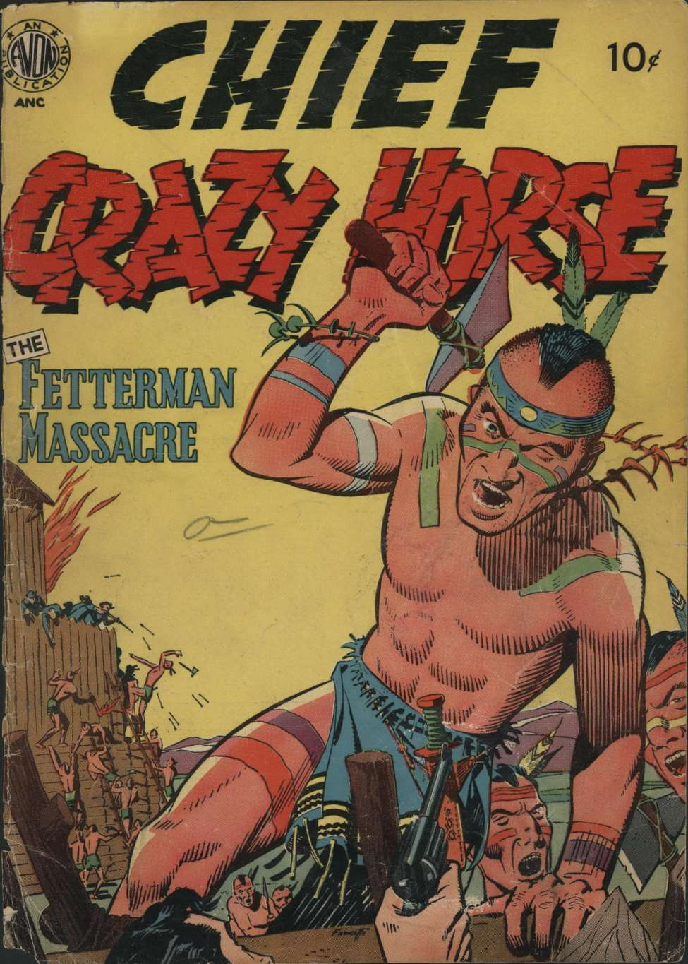 Comic Book Cover For Chief Crazy Horse nn