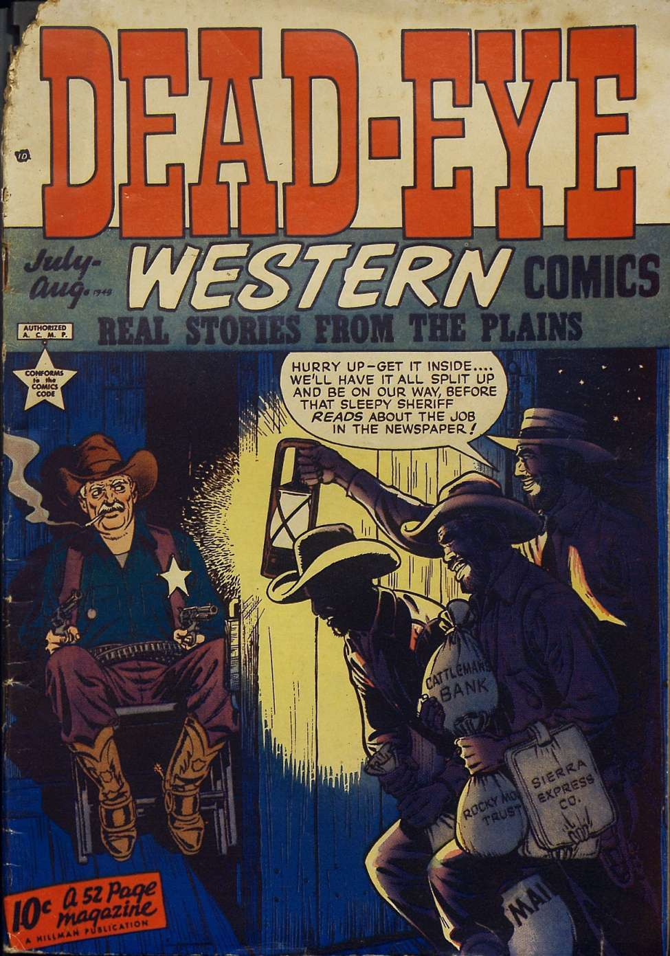 Comic Book Cover For Dead-Eye Western Comics v1 #5