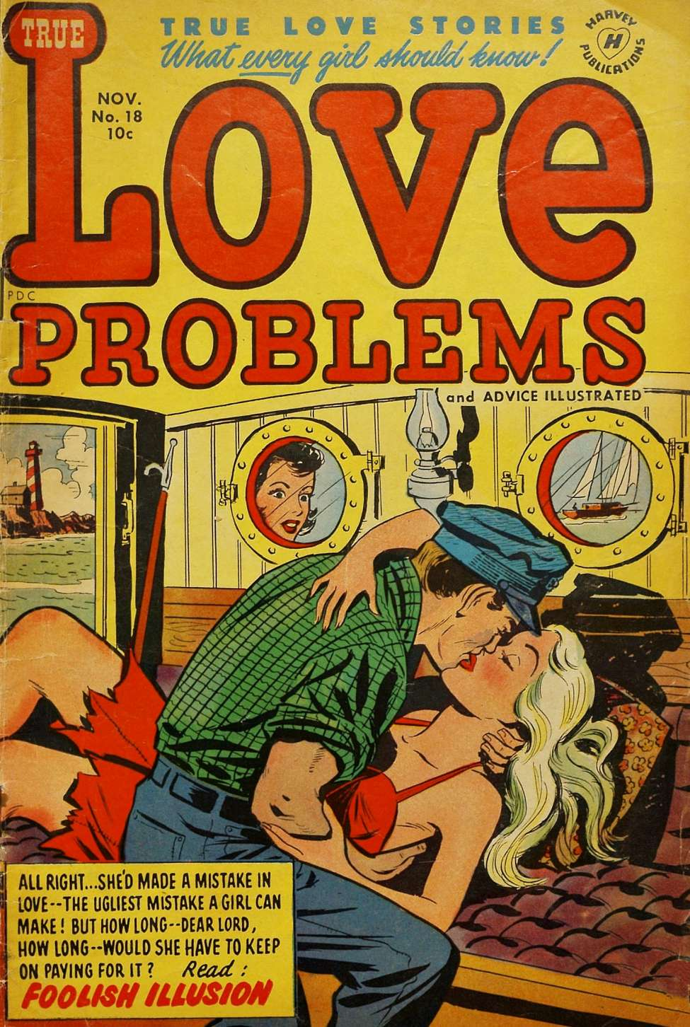 Comic Book Cover For True Love Problems and Advice Illustrated #18