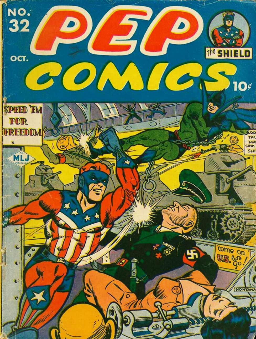 Comic Book Cover For Pep Comics #32