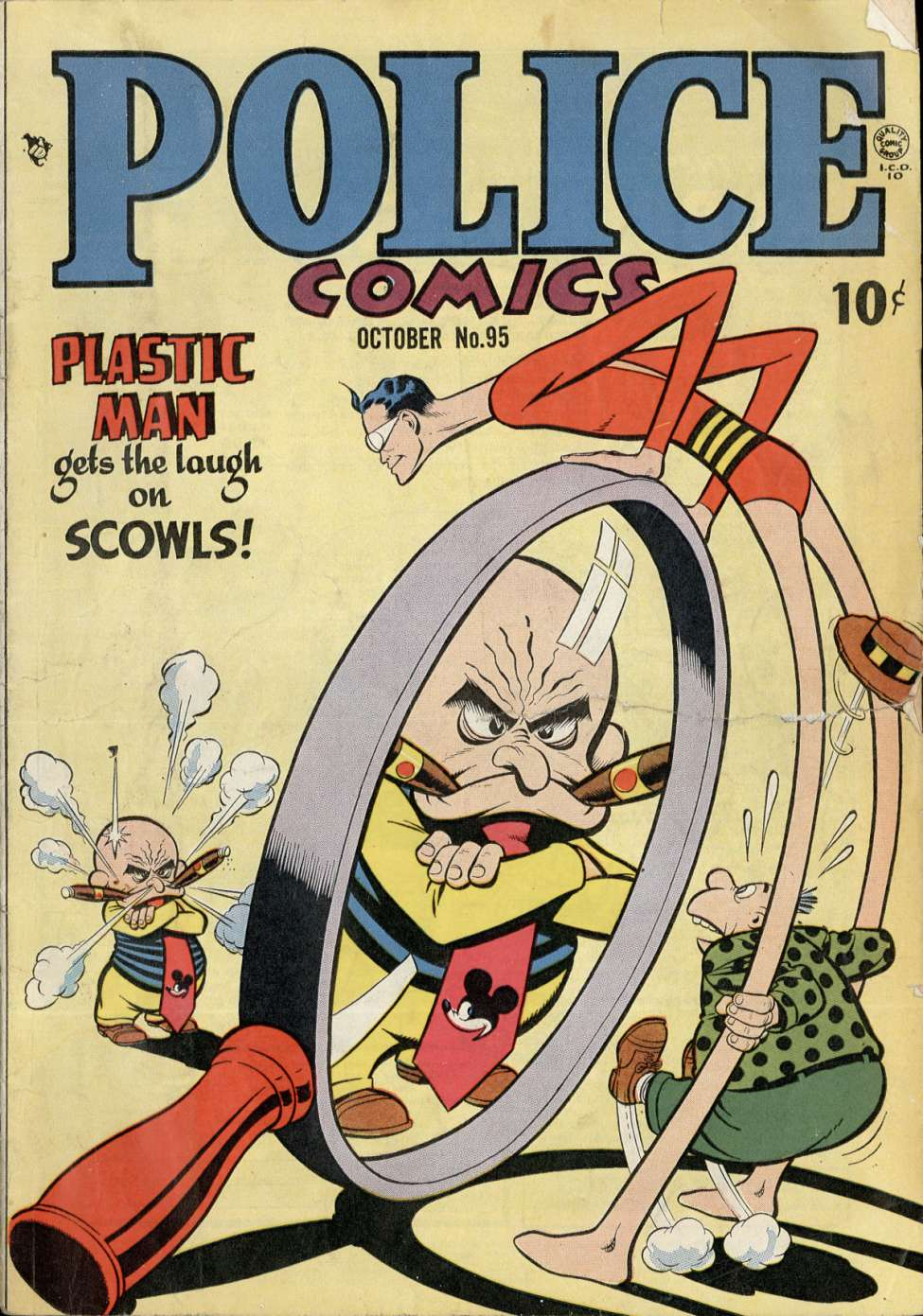 Comic Book Cover For Police Comics #95