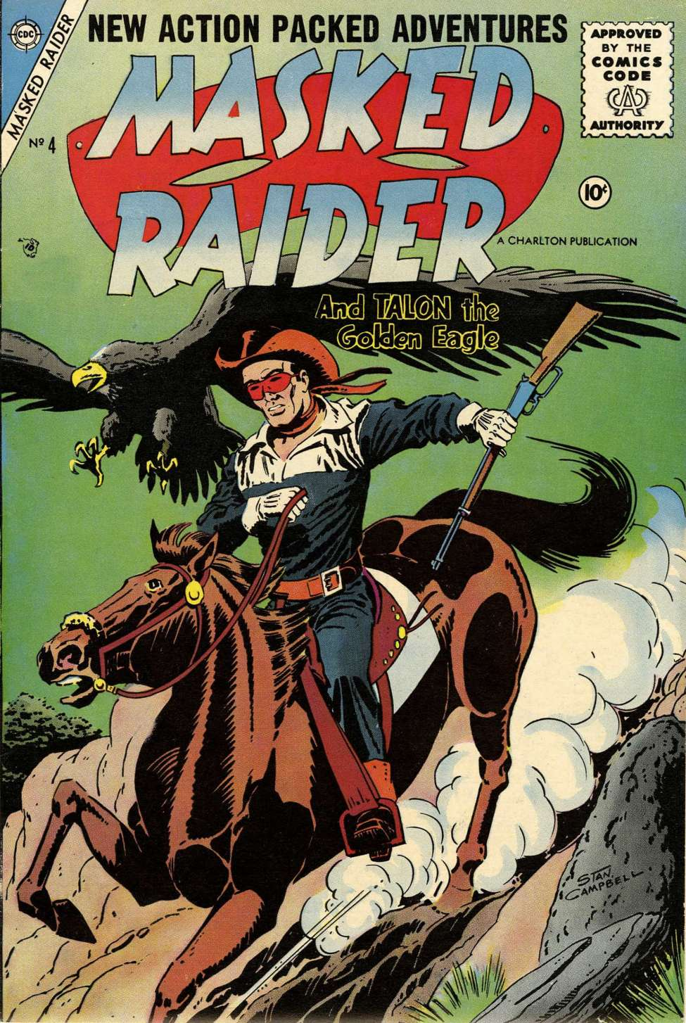 Comic Book Cover For Masked Raider #4