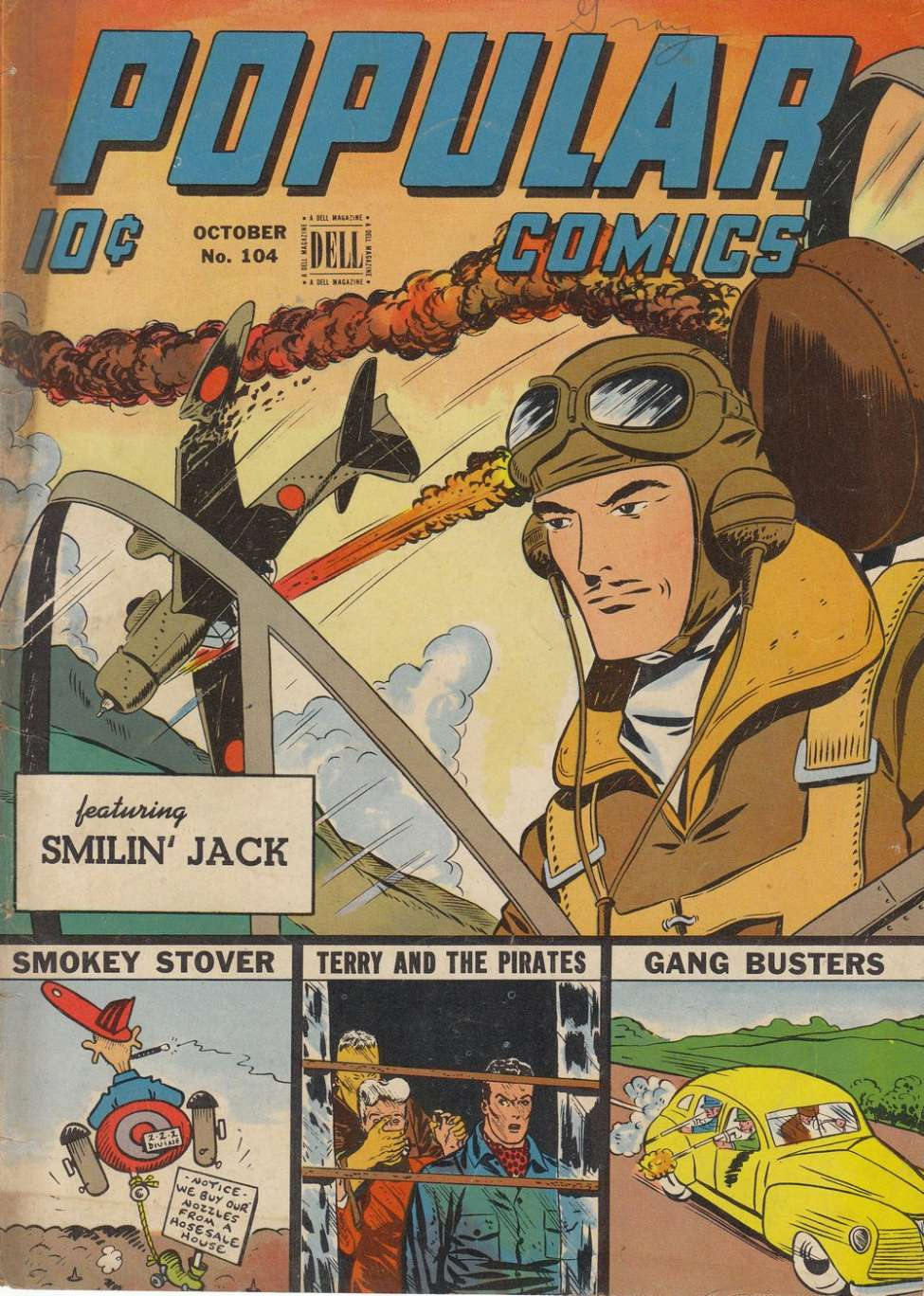 Comic Book Cover For Popular Comics #104