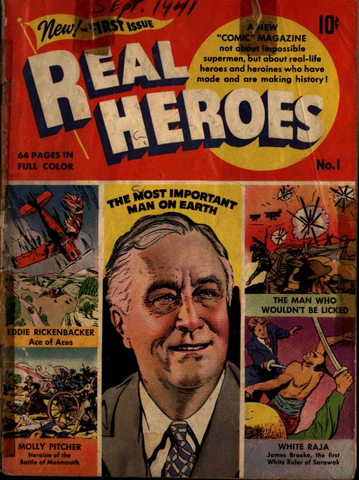 Comic Book Cover For Real Heroes #1