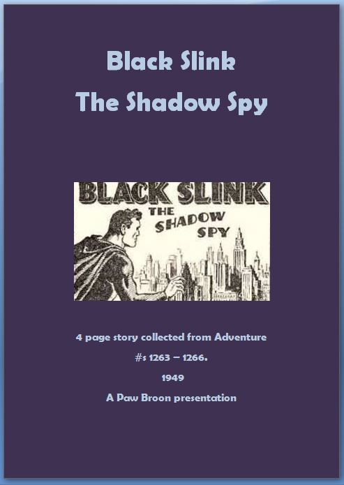 Comic Book Cover For Black Slink