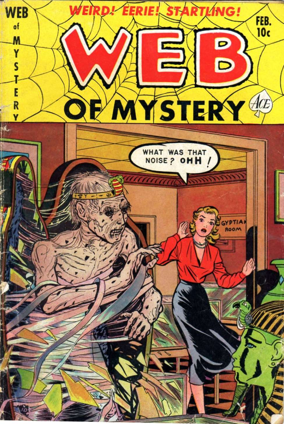 Comic Book Cover For Web of Mystery #7