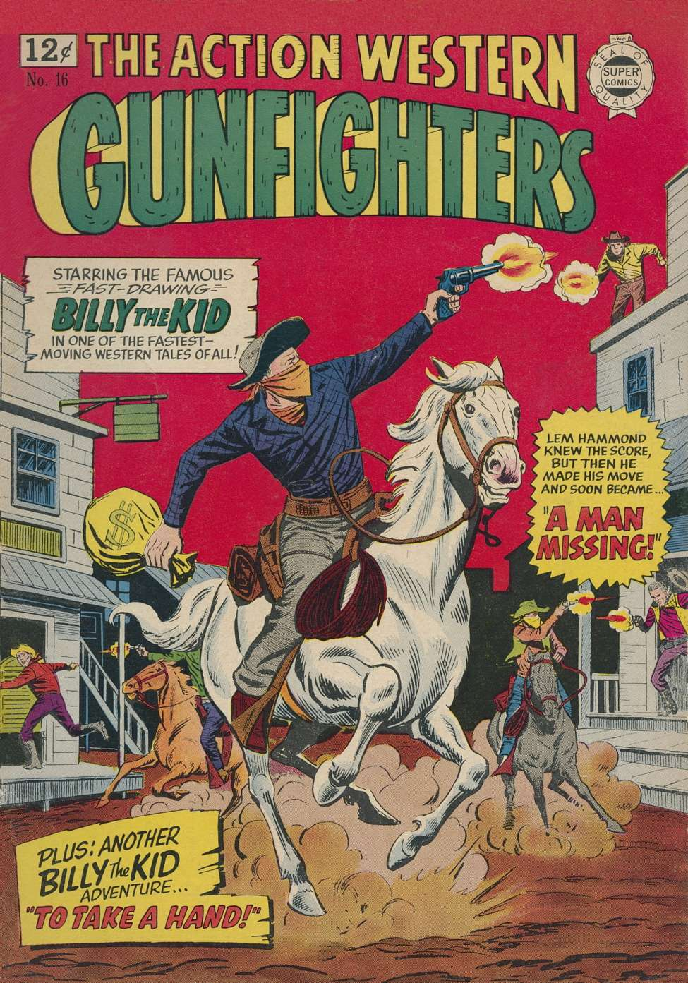 Comic Book Cover For Gunfighters #16