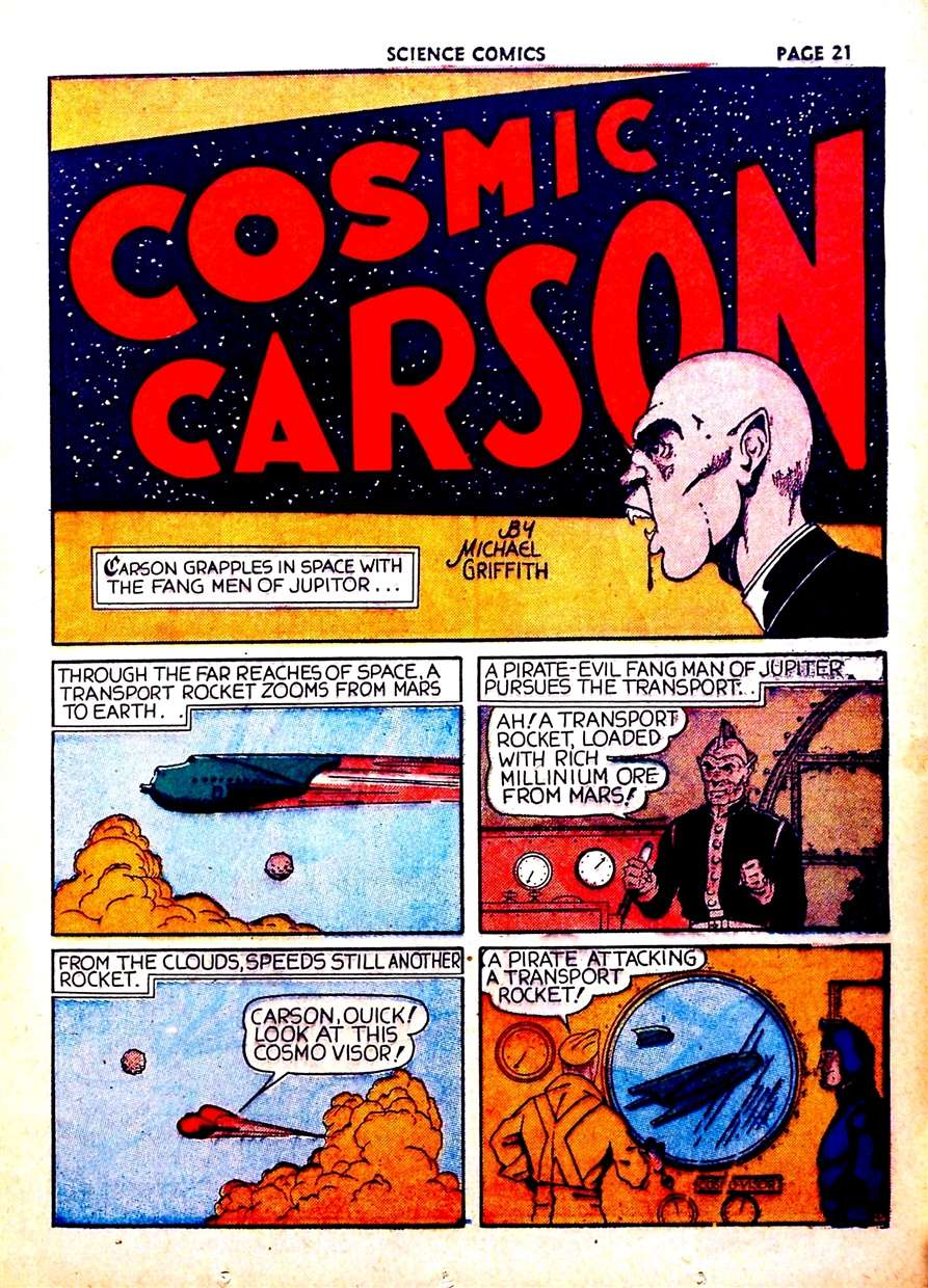 Comic Book Cover For Cosmic Carson Compilation