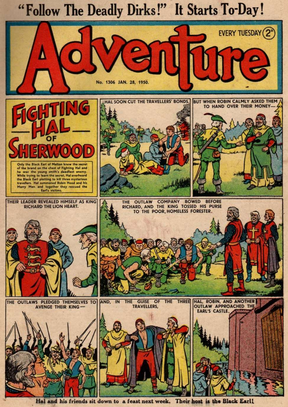 Comic Book Cover For Adventure 1306