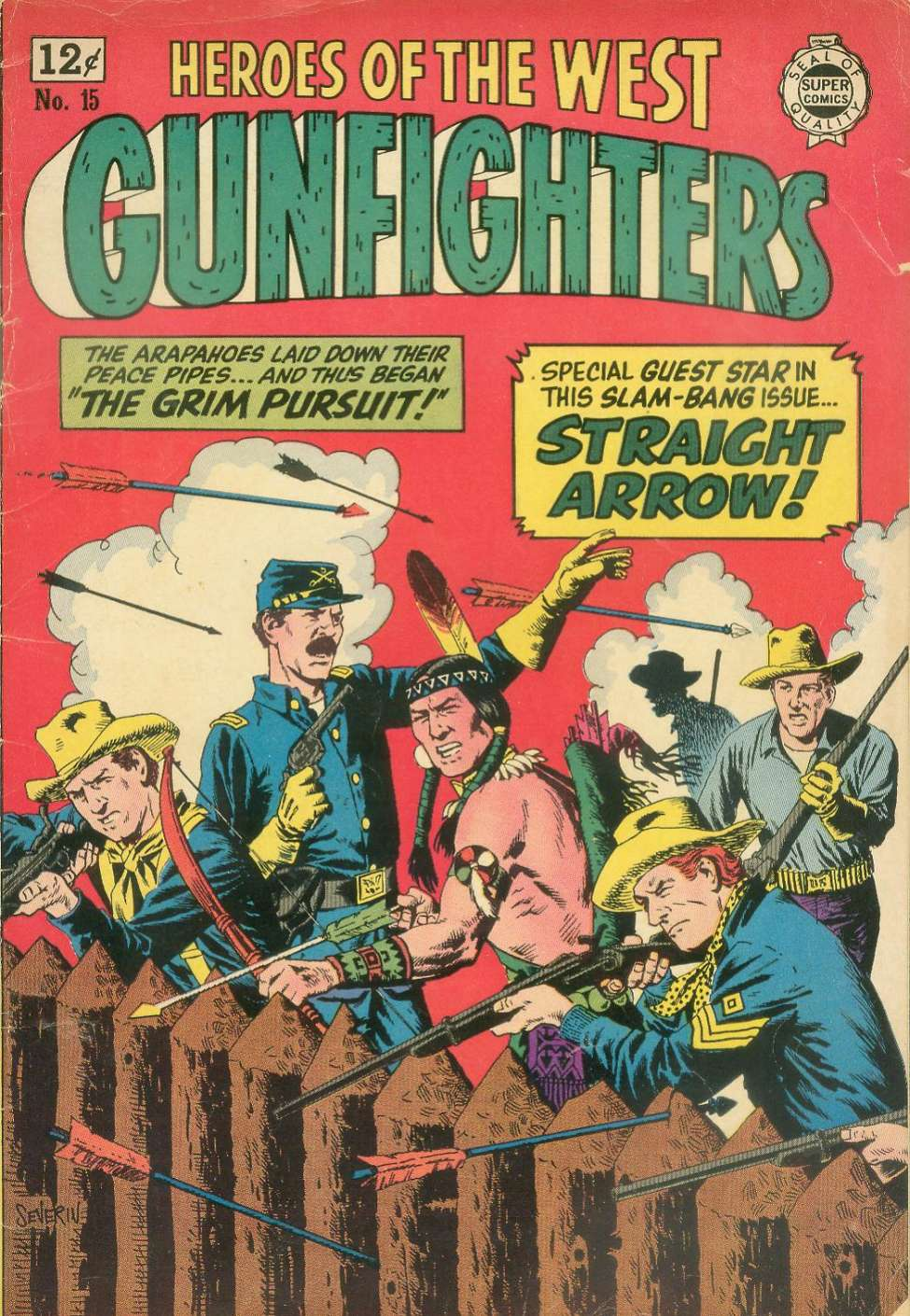 Comic Book Cover For Gunfighters #15