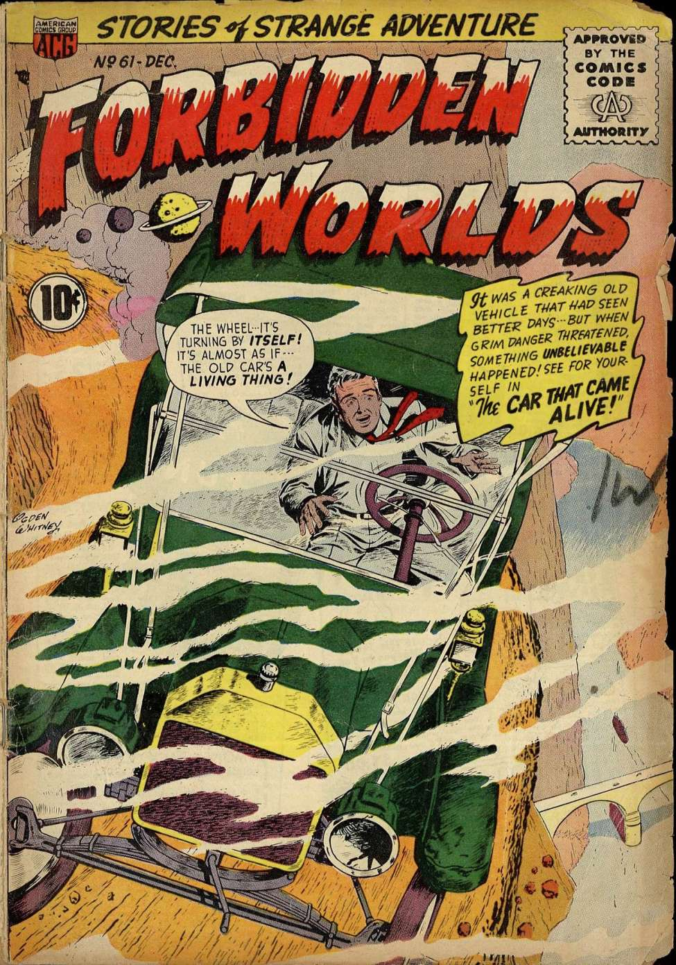 Comic Book Cover For Forbidden Worlds #61