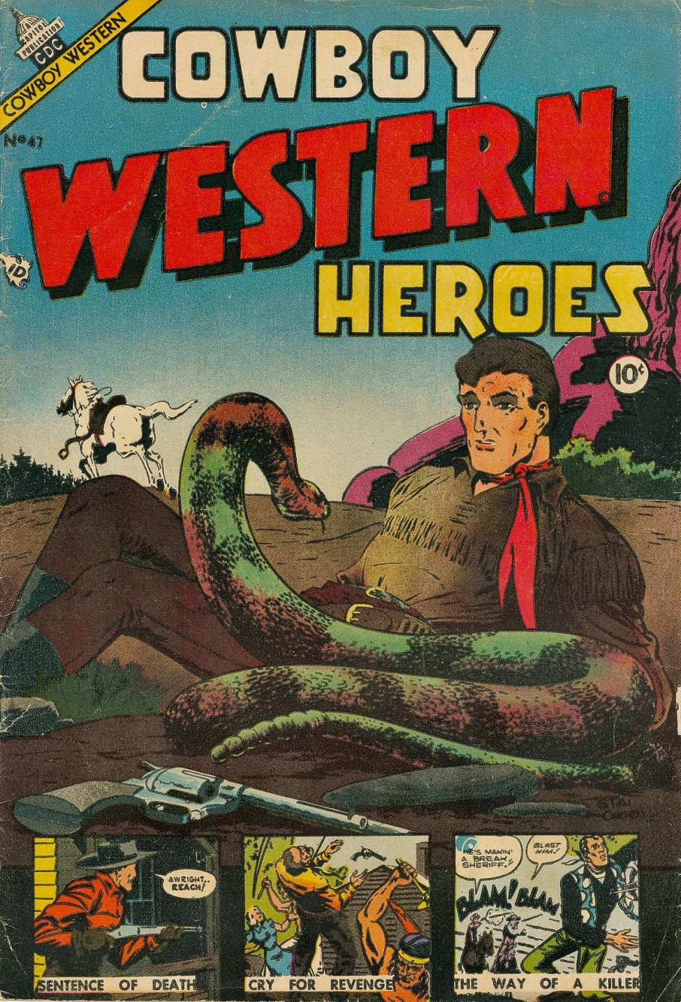 Comic Book Cover For Cowboy Western 47