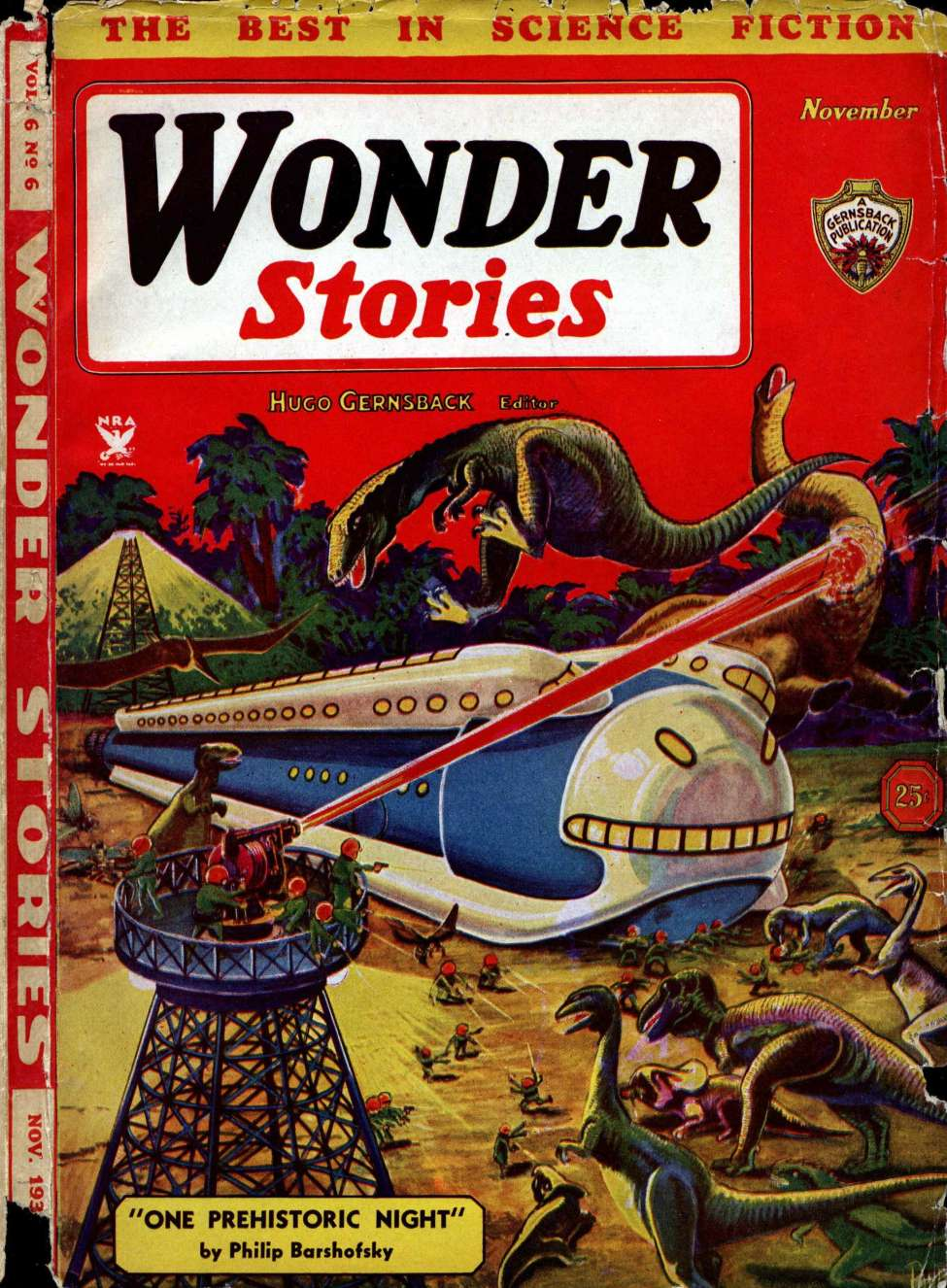 Comic Book Cover For Wonder Stories v6 06 - Dawn to Dusk - Eando Binder