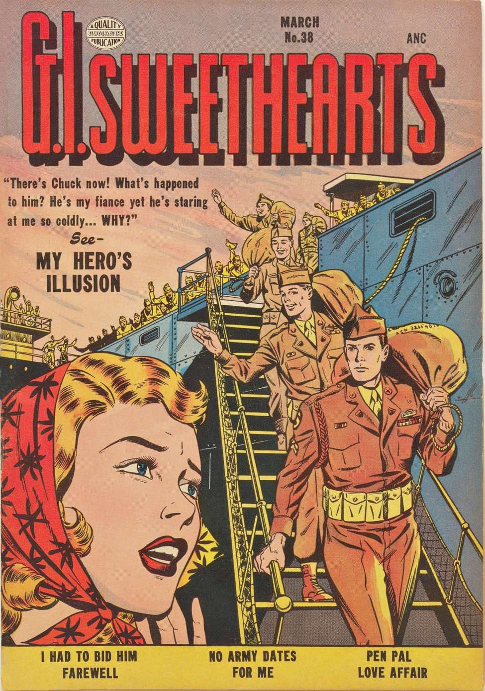 Comic Book Cover For G.I. Sweethearts 38