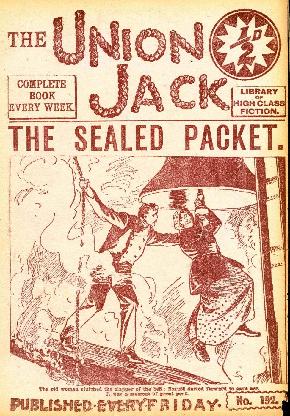 Comic Book Cover For The Union Jack 192 - The Sealed Packet