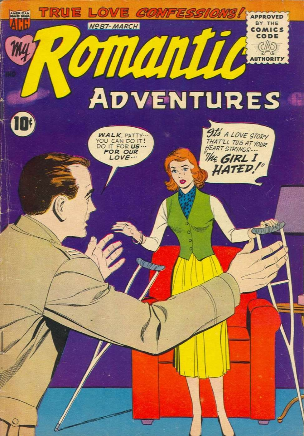 Comic Book Cover For My Romantic Adventures #87